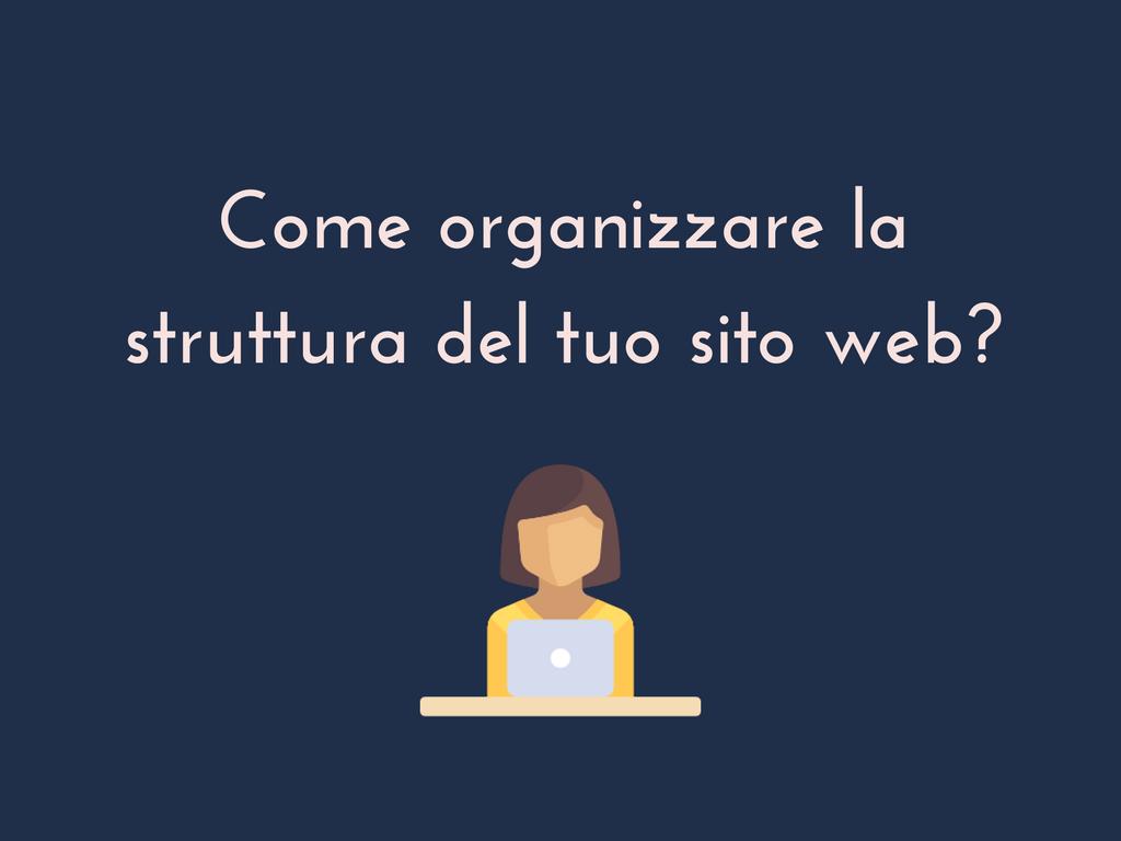 struttura sito web