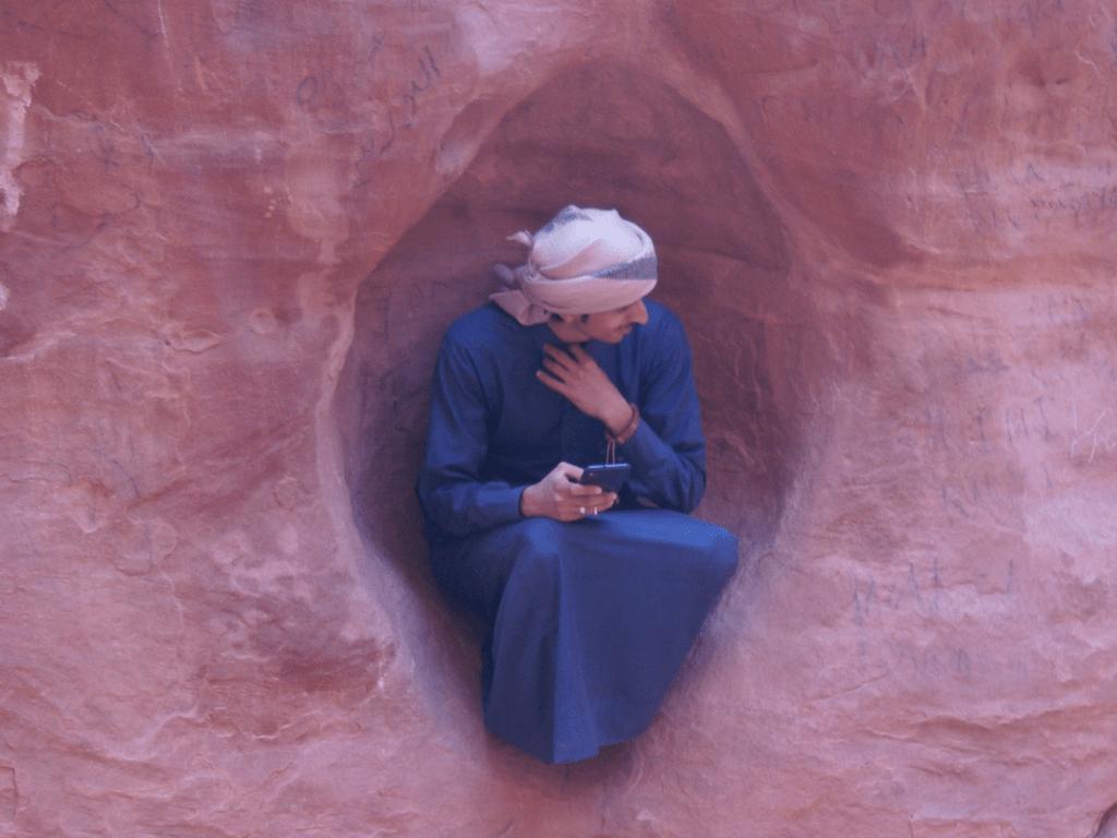 Un beduino nel Wadi Rum